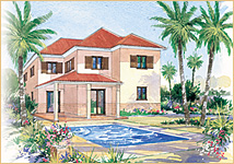 Watercolour of a Chania Villa
